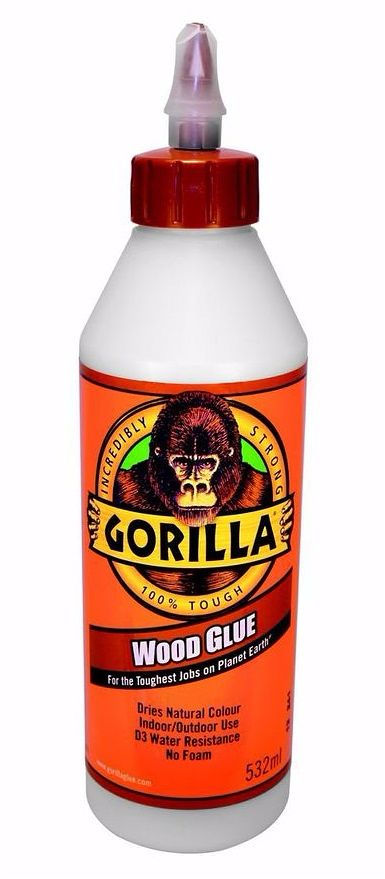 Gorilla PVA D3 Waterproof Wood Glue 532ml