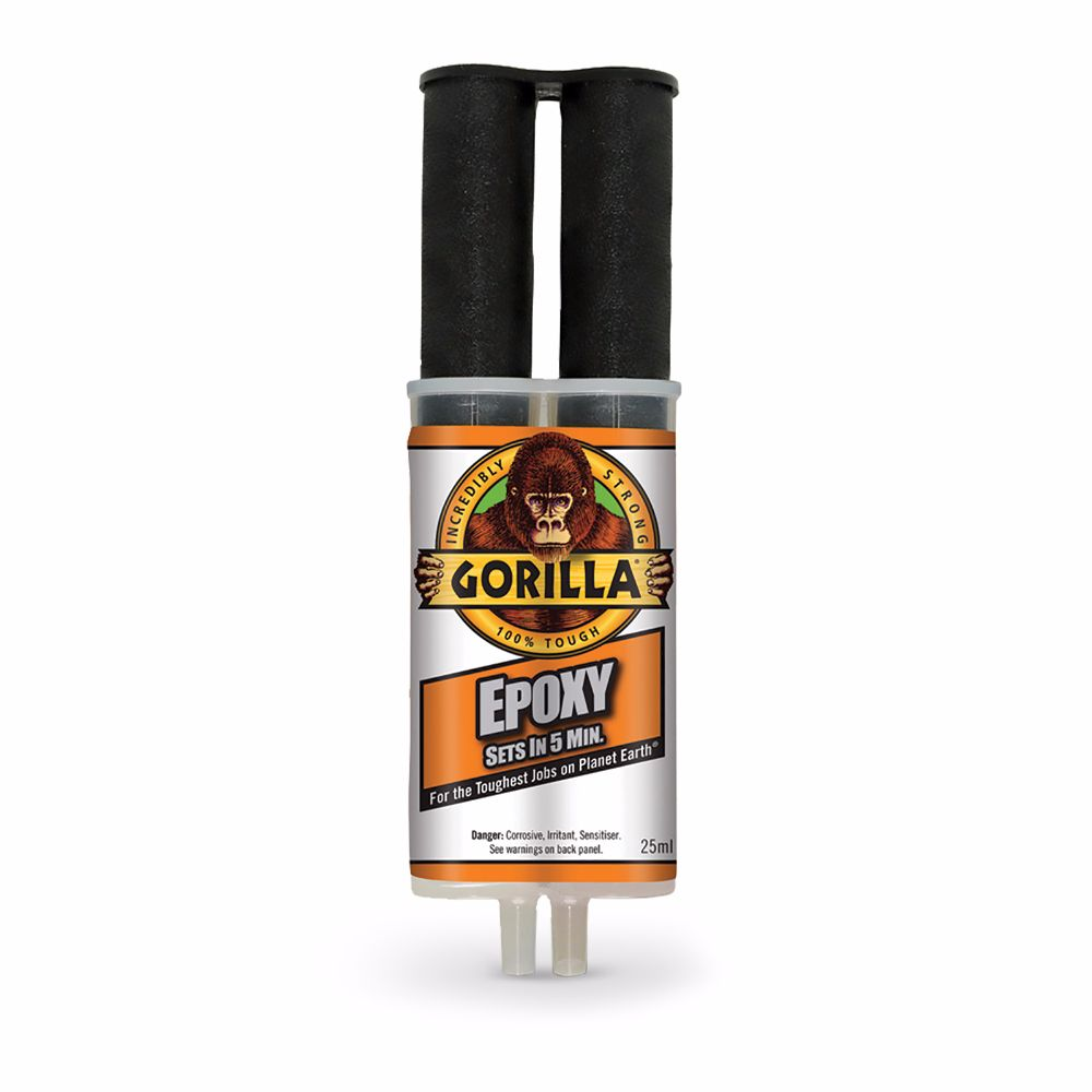 Gorilla 5 Minute 2-Part Epoxy Syringe 25ml