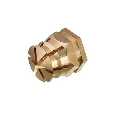 M6 x 9 Brass Spreading Press-Fit Sleeve