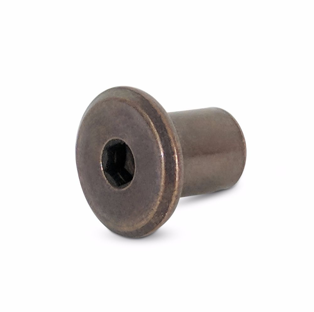 M6 Sleeve Nut With Flat Head Bronze