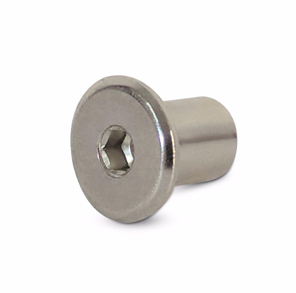 M8 x 30mm Furniture Connector Bolts /& Cap Nuts Flat Head Joint Fixing Unit