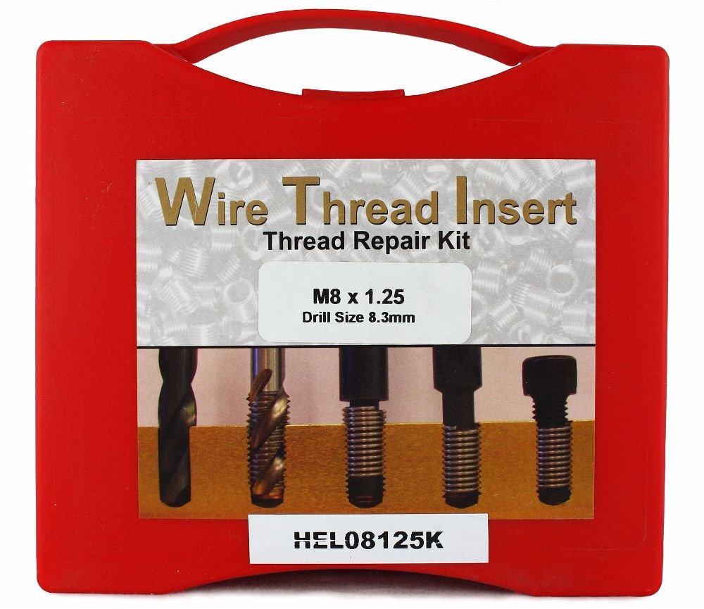 Helicoil M8 x 1.25P Thread Insert Kit