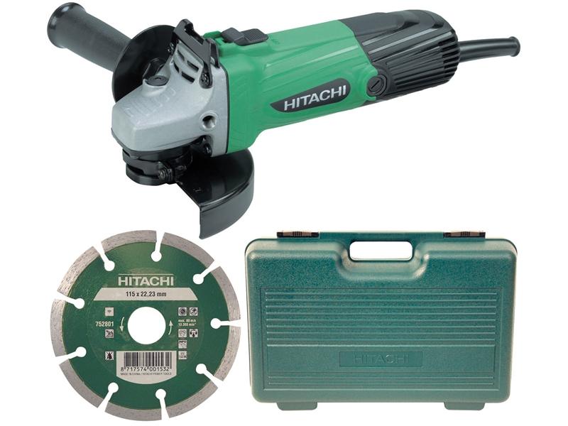 Hitachi G12SSCD 115mm Angle Grinder 110V