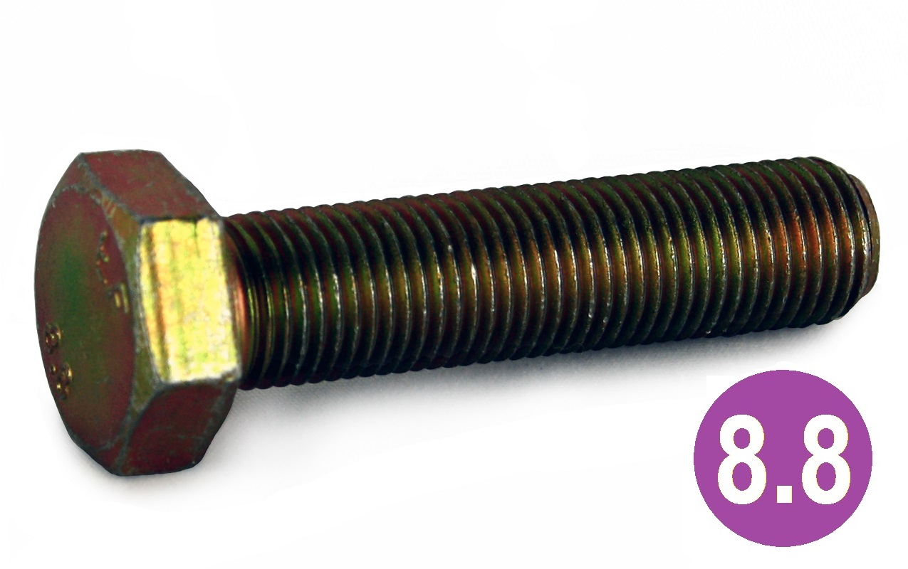 M10x1.00x40 8.8 H.T Hexagon Set Screws ZYP
