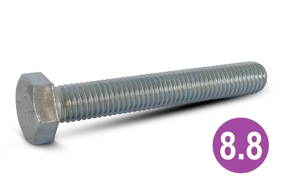 M12x30 8.8 H.T Hexagon Set Screws BZP