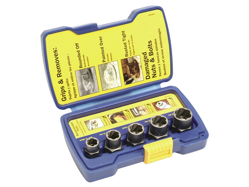 Irwin Bolt Grip Nut + Bolt Remover Set of 5
