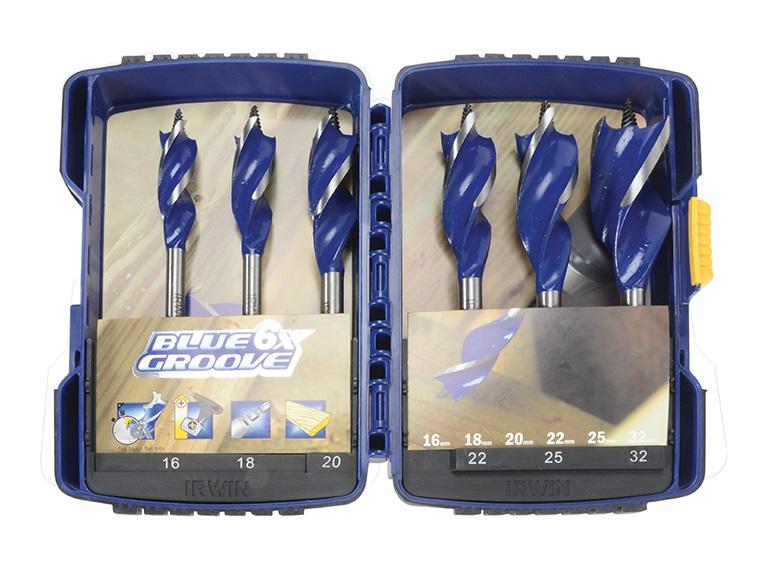 Irwin 6X Blue Groove Drill Set 6pc 16-32mm
