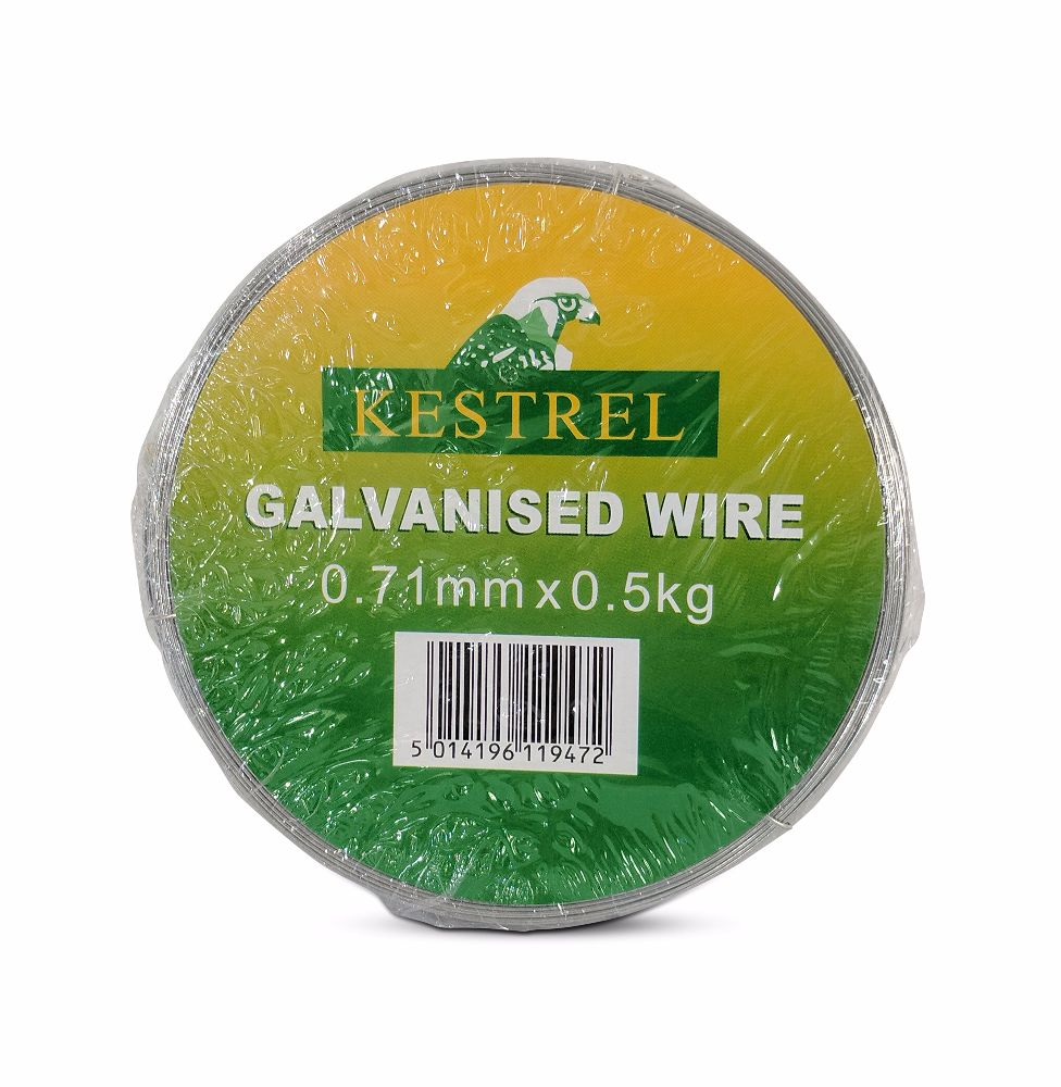 Kestrel Galvanised Wire 0.71mm x 0.5Kg - 161M