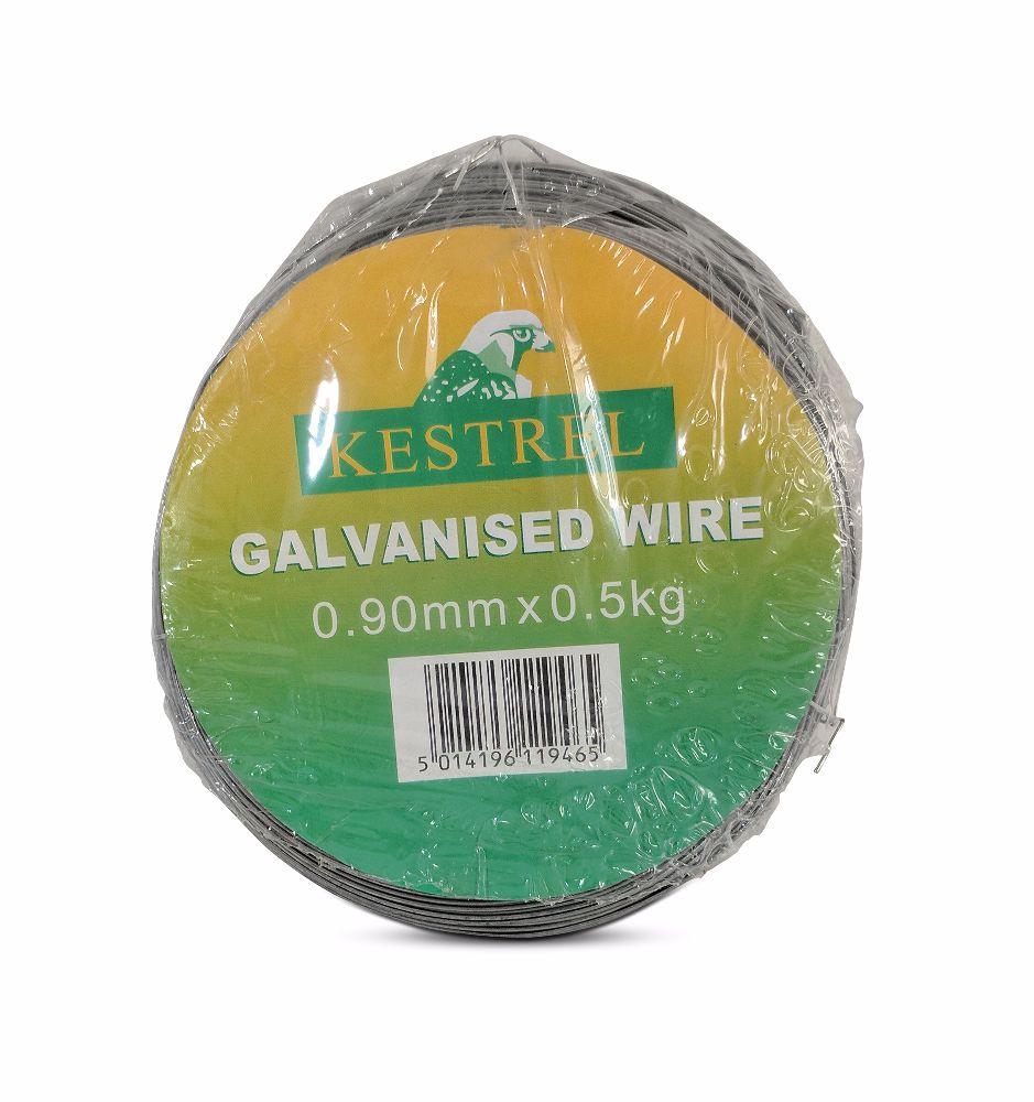 Kestrel Galvanised Wire 0.9mm x 0.5Kg - 100M