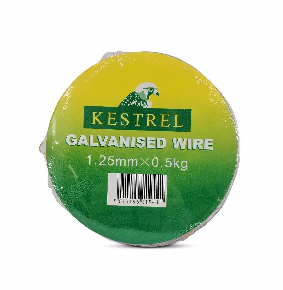 Kestrel Galvanised Wire 1.25mm x 0.5Kg - 50M