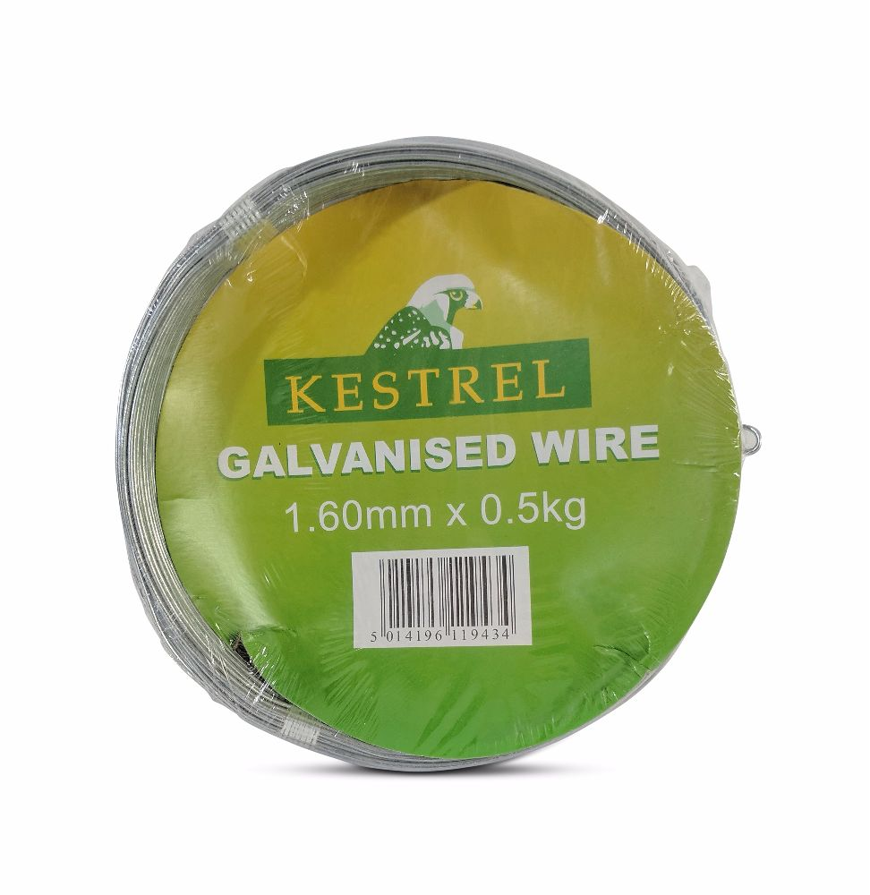 Kestrel Galvanised Wire 1.6mm x 0.5Kg - 31M