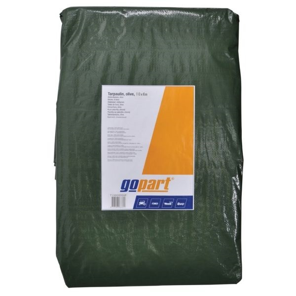 Go Part Waterproof Tarpaulin Green 6 x 3m