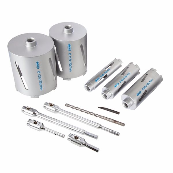 Mexco 11 Peice DCX90 Dry Diamond Core Kit