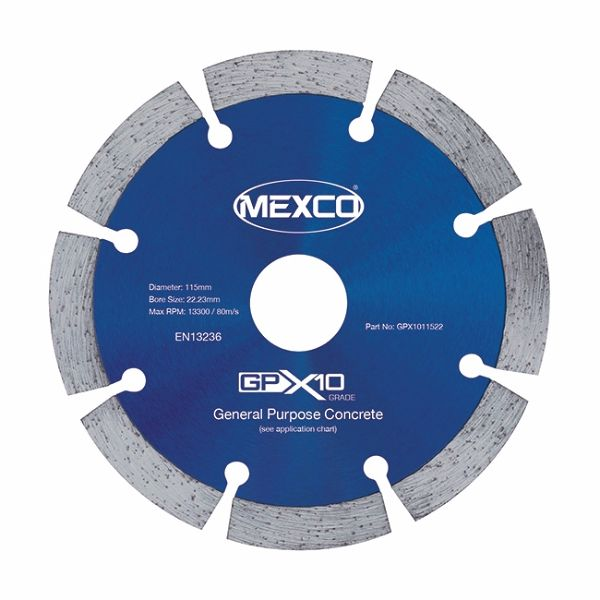 Mexco 115mm Concrete X10 Range 22.23mm Bore