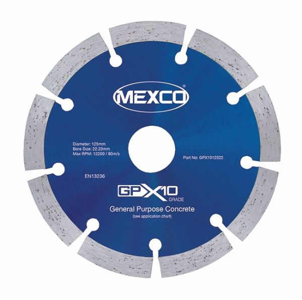 Mexco 125mm Concrete X10 Range 22.23mm Bore
