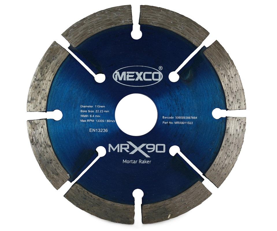 MEXCO 115MM MORTAR RAKER X90 RANGE