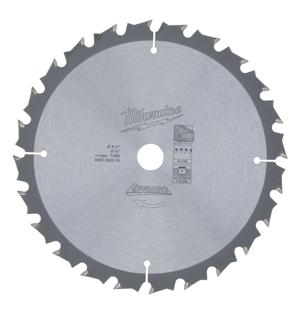 Milwaukee Circular Saw Blade 165 x 16 x Z24