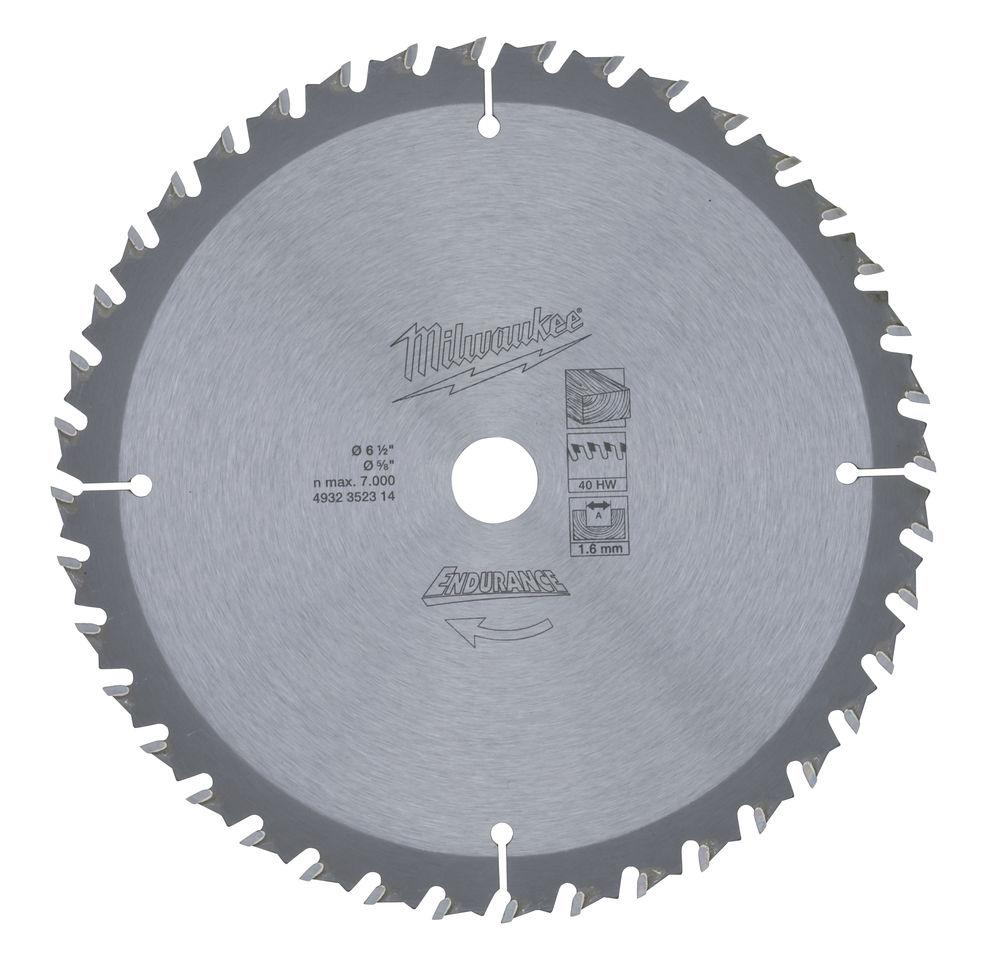 Milwaukee Circular Saw Blade 165 x 16 x Z40