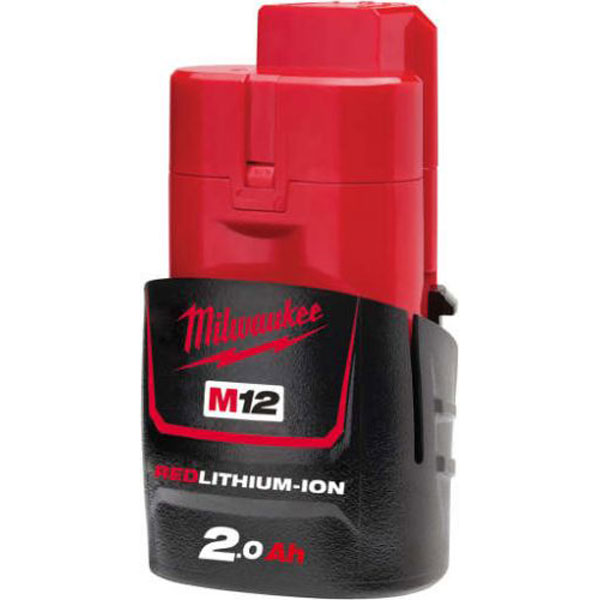 Milwaukee M12B2 M12 2.0Ah Red Lithium Battery