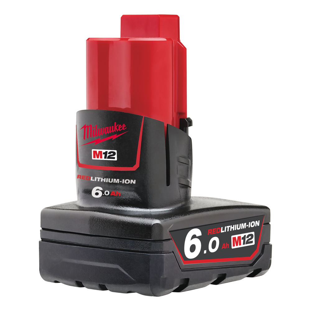 Milwaukee M12B6 12V 6.0Ah Red Lithium Battery