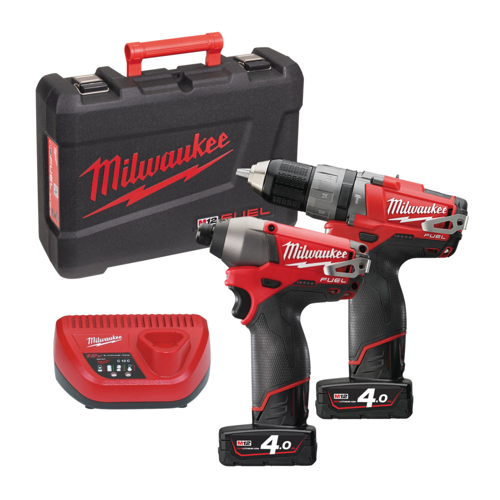 Milwaukee M12PP2A-402C M12 Fuel Twin Pack