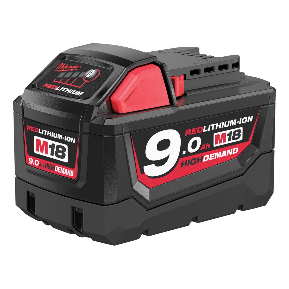 Milwaukee M18B9 M18 9.0Ah Red Lithium Battery