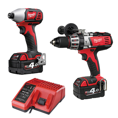 Milwaukee M18BPP2A-402C H/Duty Twin Pack