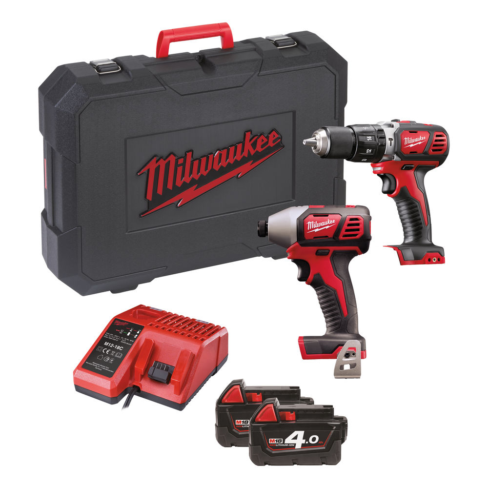 Milwaukee M18BPP2C-402C M18 Compact Twin Pack