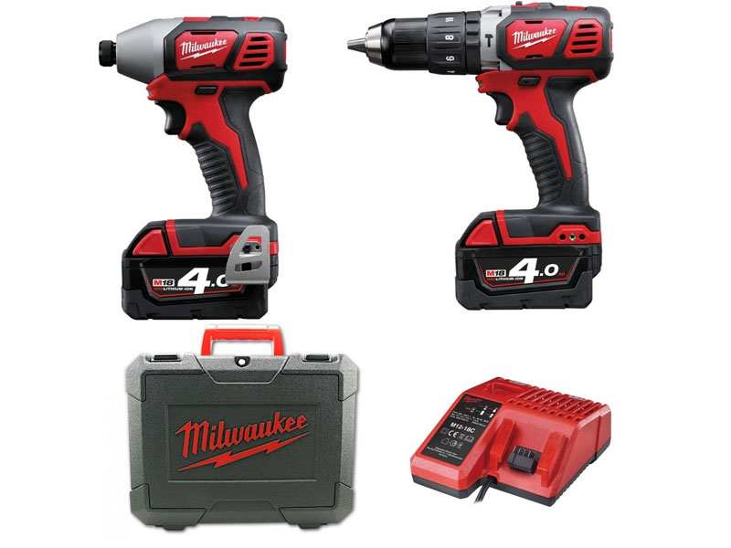 Milwaukee M18BPP2I-402C M18 Compact Twin Pack
