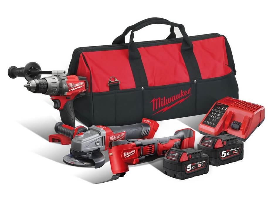 Milwaukee M18FPP3D-503B M18 Fuel Triple Pack