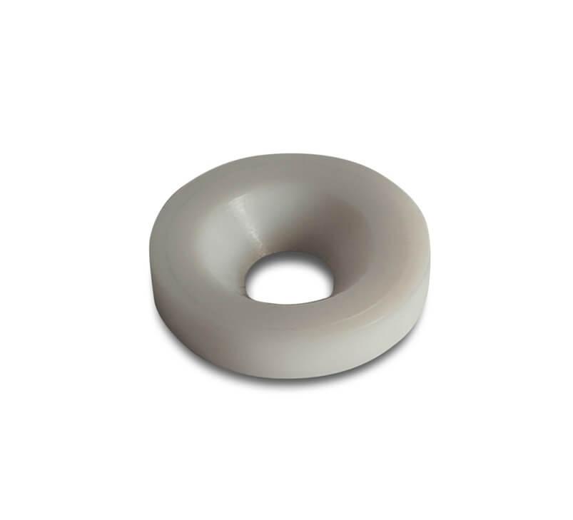 White Nylon Washer 16mm Dia x 5mm Hole