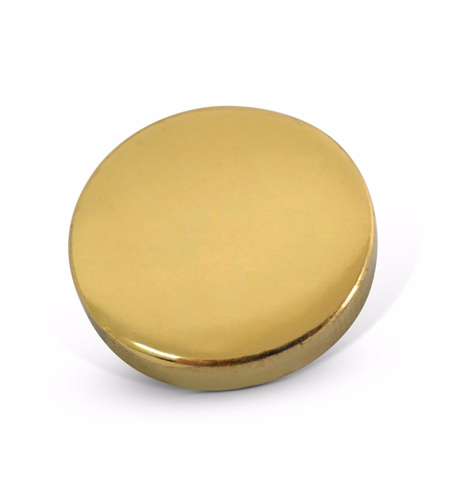 12mm Polished Brass 6BA Caps - Flat