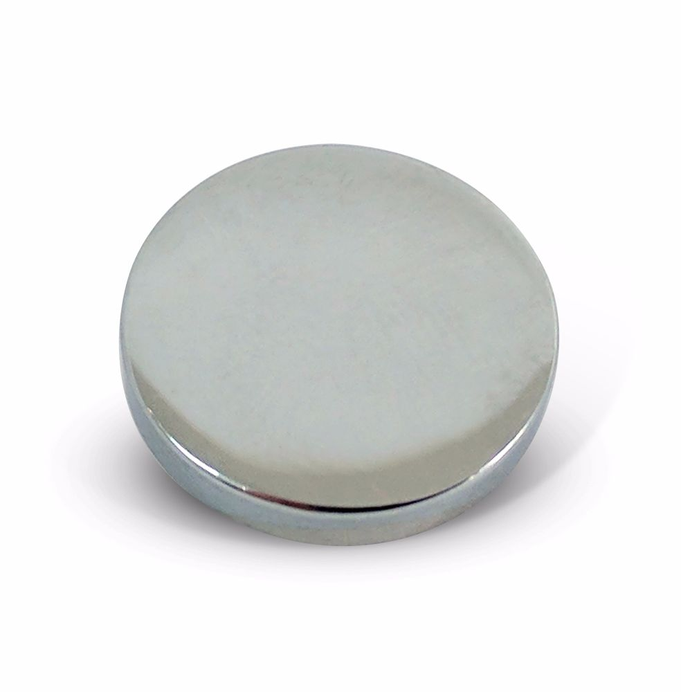 25mm Polished Chrome 5BA Caps - Flat