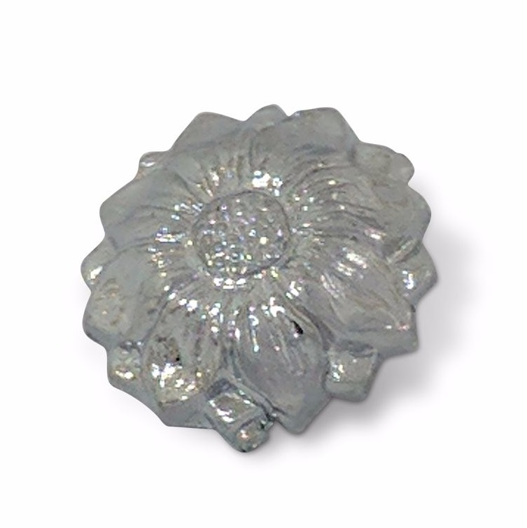 9/16in Decorative Flower Chrome Cover 5BA