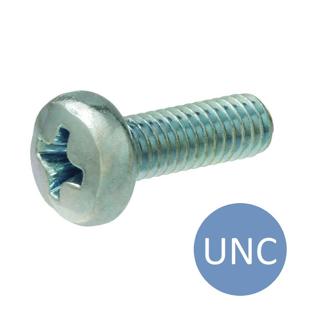 2-56 UNC x 3/16 Pozi Pan Machine Screw Black
