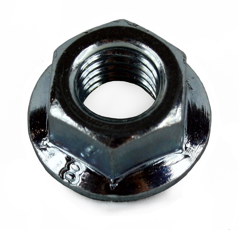 M6 Non Serrated Flange Nut BZP DIN 6923