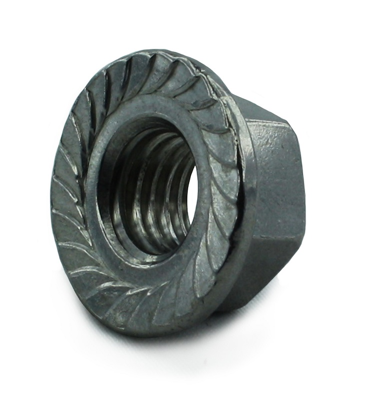M6 Serrated Flange Nut BZP DIN 6923