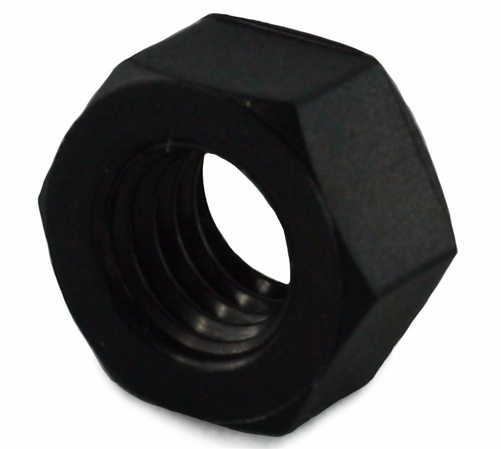 M6 Nylon 6.6 Full Nut Black
