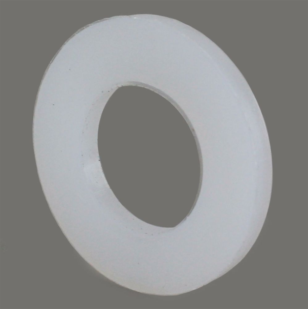 M5 NYLON FLAT WASHERS NATURAL