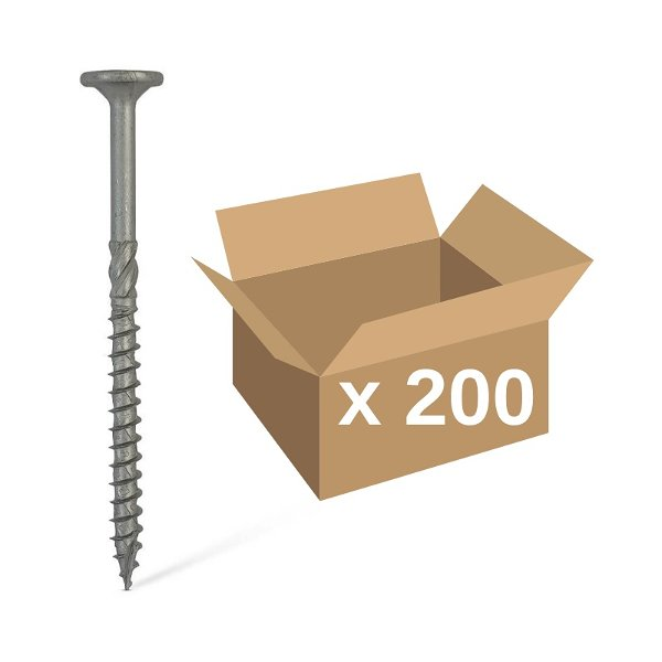 Carpenters Mate 100mm Flat Head Screws 200pk