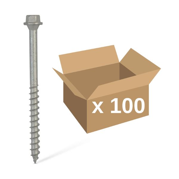 Carpenters Mate® 140mm Hex Head Screws 100pk