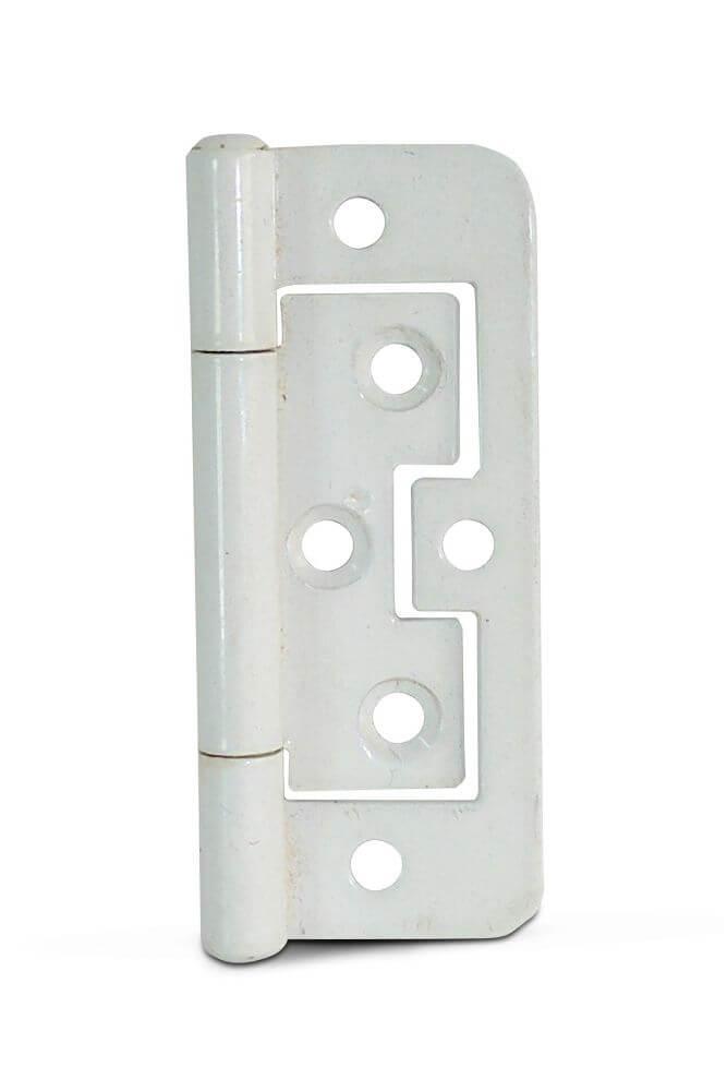 75mm (3 in.) 105 Flush Hinges White (Pair)