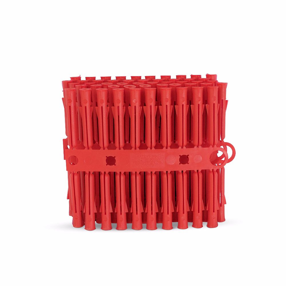 Talon Red Plastic Plugs Pack of 100
