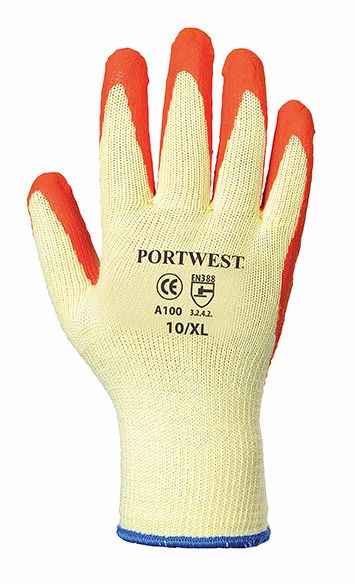 A109 Builders Grip Glove SZ 10 Orange