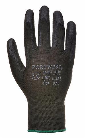 A120 PU Palm Glove SZ 10 (X-Large) Black