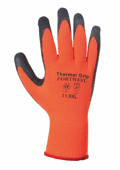 A140 Thermal Grip Glove SZ 11 Orange