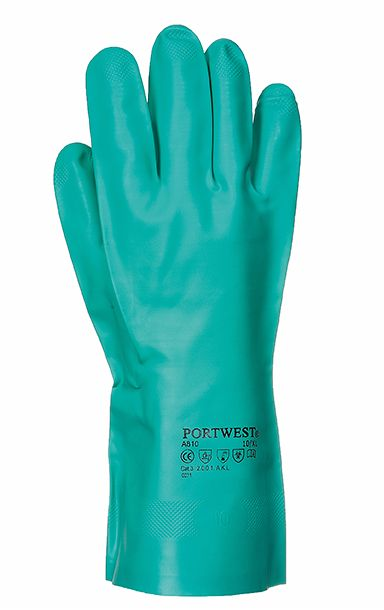 A810 Chemical Resistant Glove SZ10 XL Green