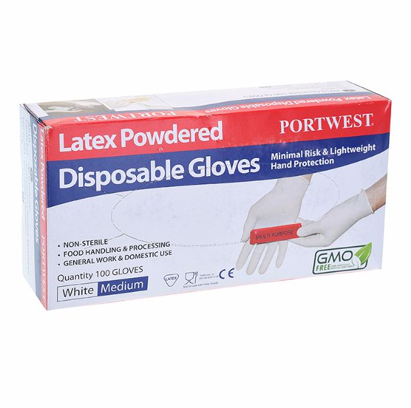 A910 Powdered Latex Glove Lg Box 100