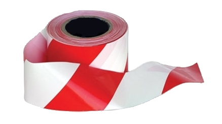 BT10 Barricade Tape Red/White 500M