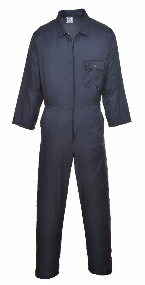 C803 Nylon Overall Zip Front Navy Medium